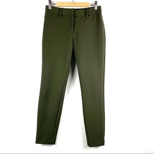 EXPRESS Mid Rise Extreme Stretch Skinny Pant Green